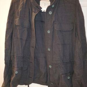 Anthropologie Hei Hei Linen Jacket